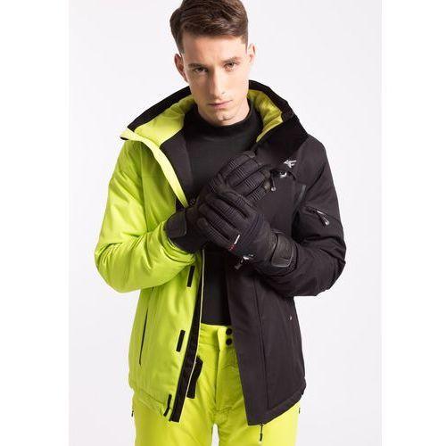 4f Kurtka narciarska męska kumn257z - limonkowy neon