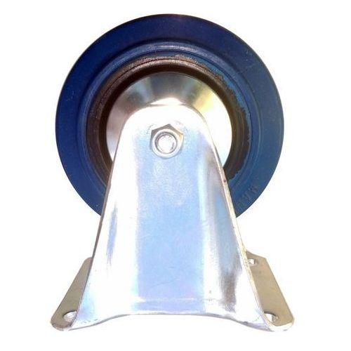 Koło fi 125 mm na płytkę, nośność 150 KG!, niebieski kauczuk, MOCNE, STAŁE