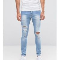 Brooklyn Supply Co Ripped Light Wash Hunter Spray On Jeans with Distressing - Blue, jeansy