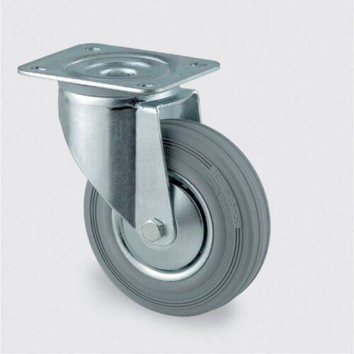 Koła przemysłowe z maksymalnym obciążeniem 70-205 kg, szara guma (4031582303360)