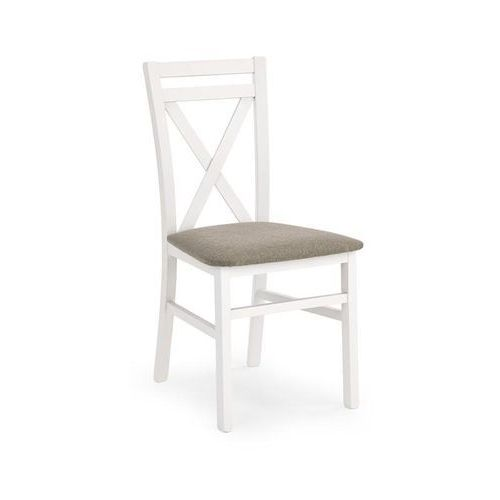 Drewniane krzesło z tapicerowanym siedziskiem dariusz marki Halmar