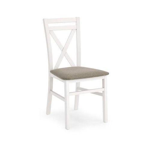 Drewniane krzesło z tapicerowanym siedziskiem Dariusz