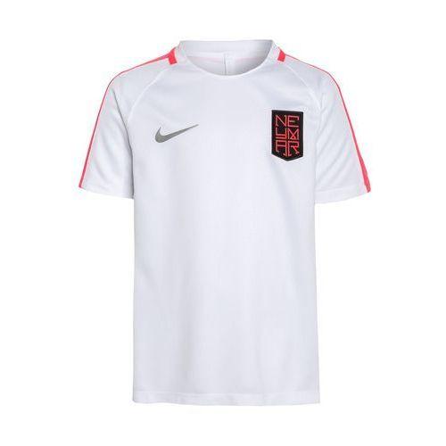 Nike Performance SQUAD NEYMAR Koszulka sportowa white/racer pink/metallic silver, kolor biały