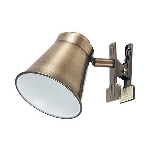Lampa stołowa klips Rabalux Martina 1x15W E27 brąz 6520 (5998250365206)