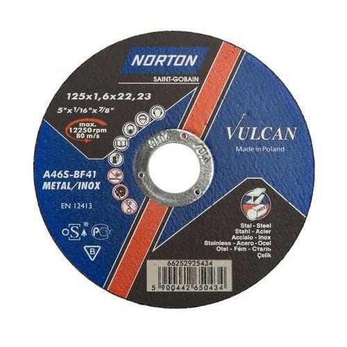 Tarcza do cięcia t41 125 x 1.6 x 22.23 stal vulcan marki Norton