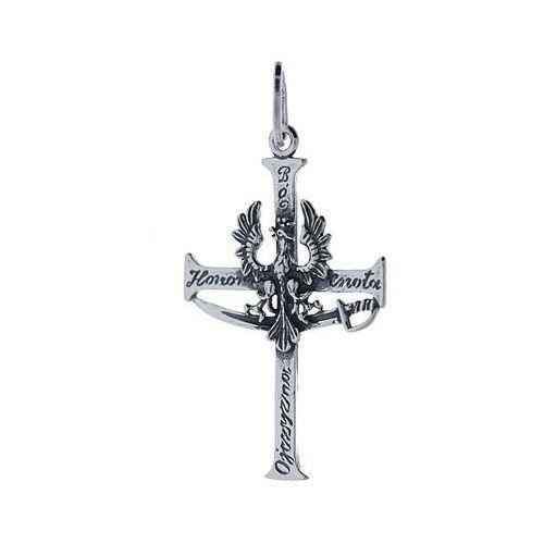 wisiorek patriotyczny srebrny krzyżyk