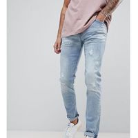 Replay jondrill distressed skinny jeans lightwash - blue