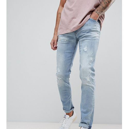 Replay jondrill distressed skinny jeans lightwash - blue