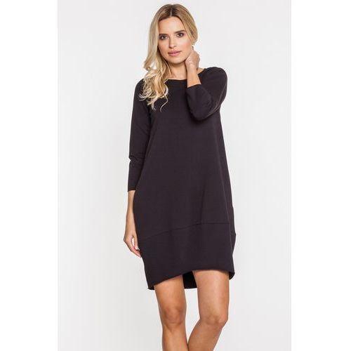 Casualowa sukienka w kolorze czerni - marki Bialcon