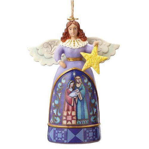 Anioł i szopka gwiazda zawieszka mini angel with star 4055132 figurka ozdoba świąteczna marki Jim shore