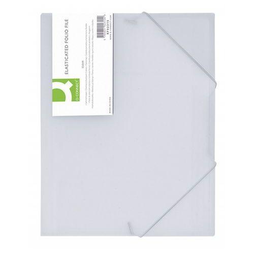 Teczka z gumką A4 Q-CONNECT PP - biała KF02315 (5705831023154)