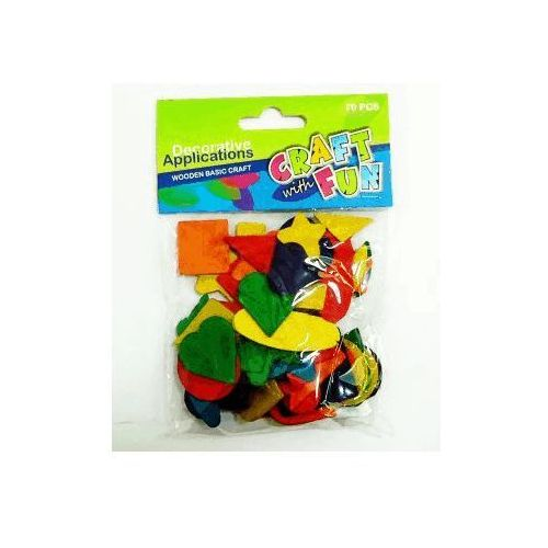 Craft with fun Ozdoba dek drewniana kolorowe kształty