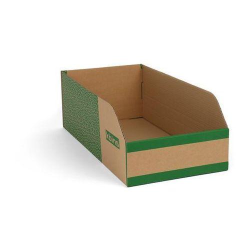 Skrzynki regałowe z kartonu, składane, opak. 25 szt., dł. x szer. x wys. 600x300 marki K bins limited