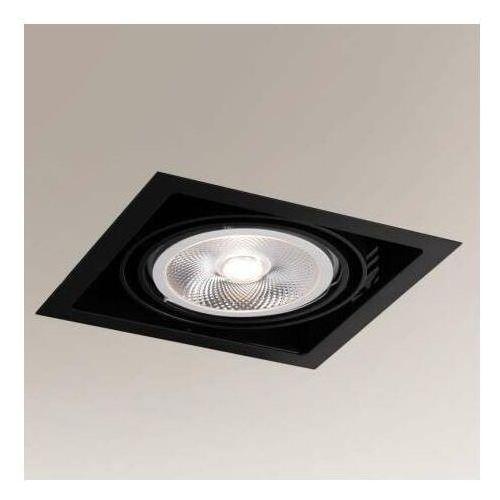 Wpuszczana LAMPA sufitowa MUKO 7341 Shilo podtynkowa OPRAWA metalowa kwadratowa wpust czarny, kolor Czarny