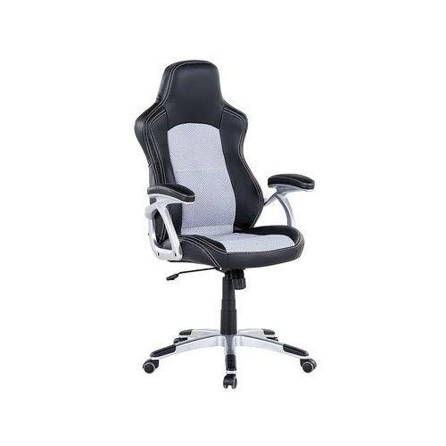 Krzesło biurowe czarno-szare regulowana wysokość EXPLORER