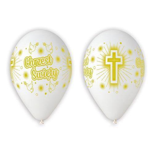 Twojestroje.pl Balon biały chrzest święty 30cm 1szt