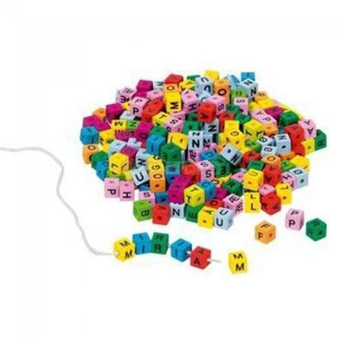 Kolorowe klocki z literkami do nawlekania - . darmowa dostawa do kiosku ruchu od 24,99zł marki Goki