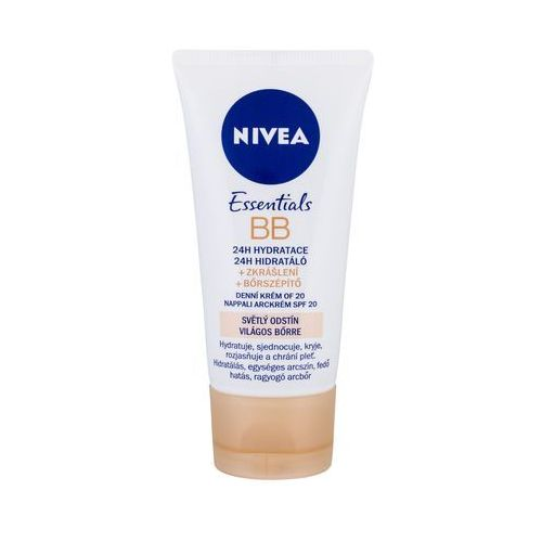 OKAZJA - Nivea bb cream 5in1 beautifying moisturizer, spf10 krem bb 50ml light (4005808745425)