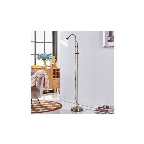 Lampenwelt Piękna lampa stojąca otis w kol. post. mosiądzu (4251096525106)