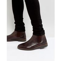Silver Street Chelsea Boots In Brown Leather - Brown, kolor brązowy