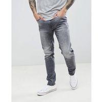 Burton Menswear Skinny Jeans In Grey Wash - Green, jeansy