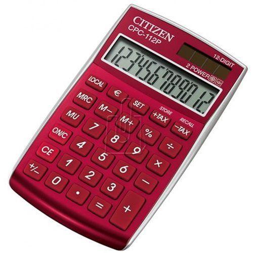Kalkulator Citizen CPC-112RD burgundowy - gwarancja bezpiecznych zakupów - autoryzowany dystrybutor Citizen