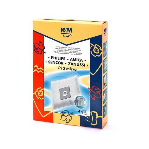 Worki do odkurzacza K&M Philips P15 MICRO (4 SZT)