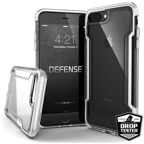 defense clear - etui iphone 8 plus / 7 plus (white) marki X-doria
