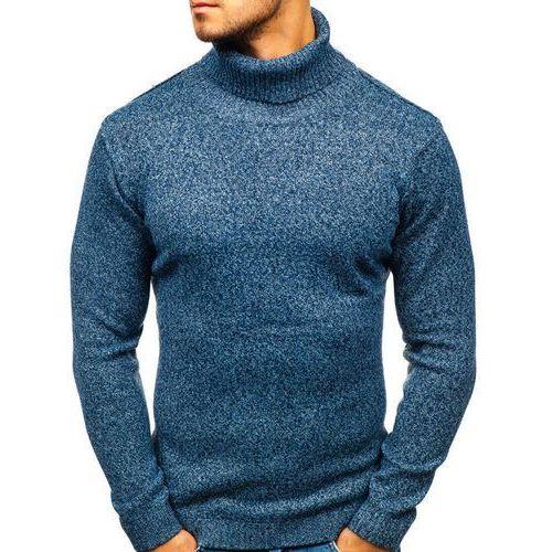 Sweter męski golf niebieski denley h1800 marki Hot red