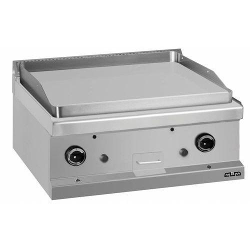 Płyta grillowa gazowa 650x570 stołowa   gładka chromowana   11kW