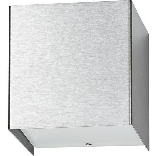 Nowodvorski Kinkiet cube silver 9cm stal szczotkowana 5267 + rabat za ilość w koszyku!!! - srebrny