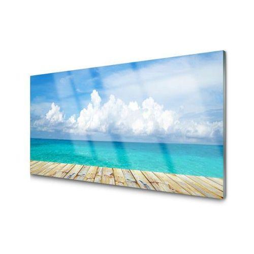 Obraz Akrylowy Morze Chmury Molo Krajobraz