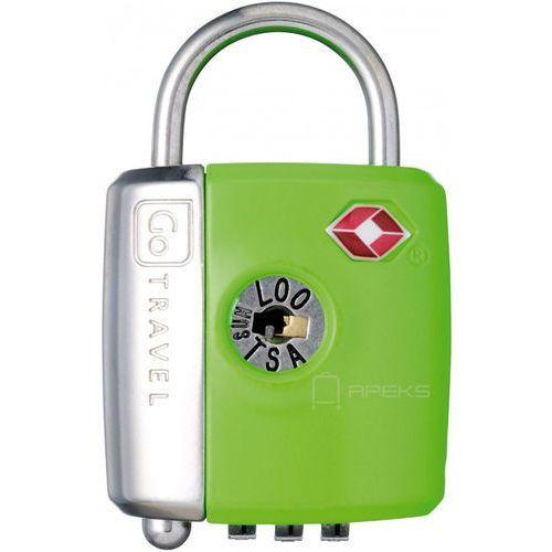 Go travel dg/337 kłódka tsa z zamkiem szyfrowym oraz kluczyk / zielona - zielony