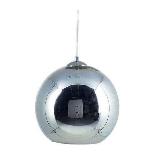 Lampa wisząca ze szkła chromowana srebrna NURE