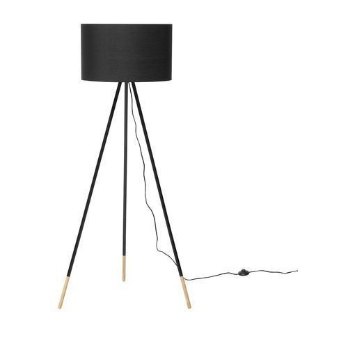 Beliani Lampa stojąca czarna 157 cm tobol (4260602374541)
