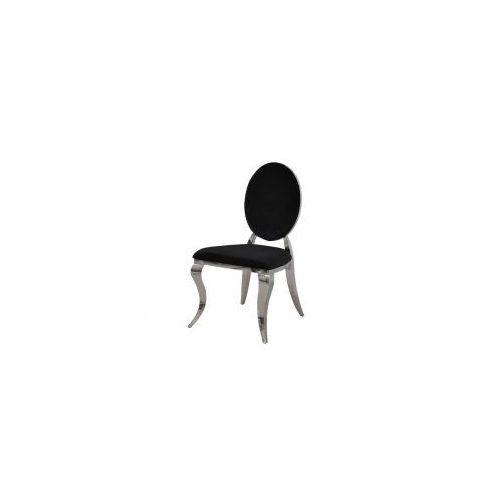 Krzesło Ludwik II glamour Black - nowoczesne krzesło tapicerowane, Louis2/KRZP/black