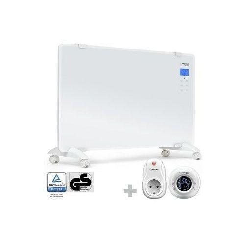 Trotec Designerski konwektor szklany tch 2010 e + termostat radiowy bn35