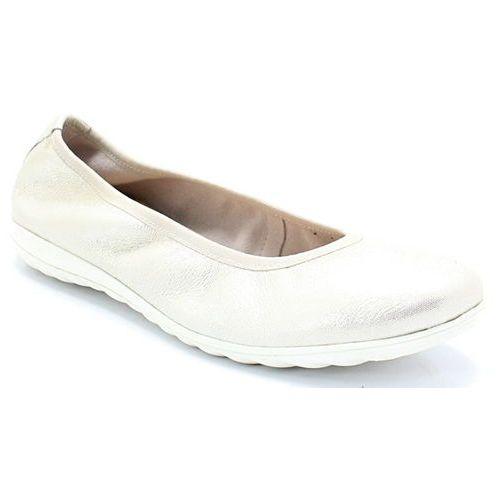 9-22142-20 srebrne - wygodne balerinki, Caprice