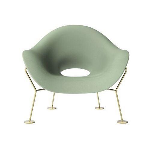 Qeeboo fotel pupa zielono-mosiężny 60001ge-br