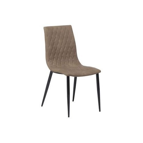 Beliani Krzesło do jadalni beżowe montana