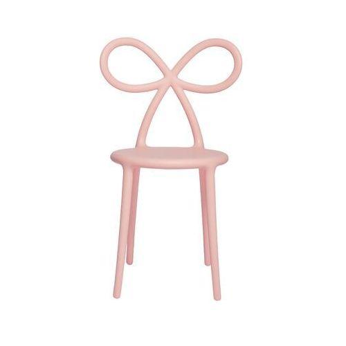 Qeeboo krzesło ribbon różowy mat 80001pi-os