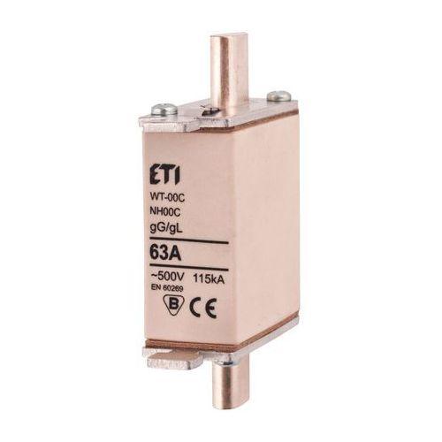 Eti Wkładka topikowa zwłoczna gg wt-00c 63a, bezpiecznik przemysłowy (5904722990951)