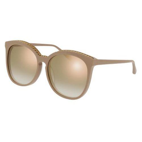 Okulary Słoneczne Stella McCartney SC0074SA Asian Fit 004, kolor żółty