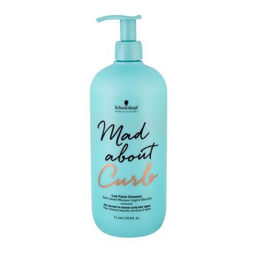 Schwarzkopf mad about curls low foam cleanser szampon do włosów 1000 ml dla kobiet