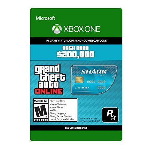 Kod aktywacyjny cash card gta v tiger shark marki Microsoft