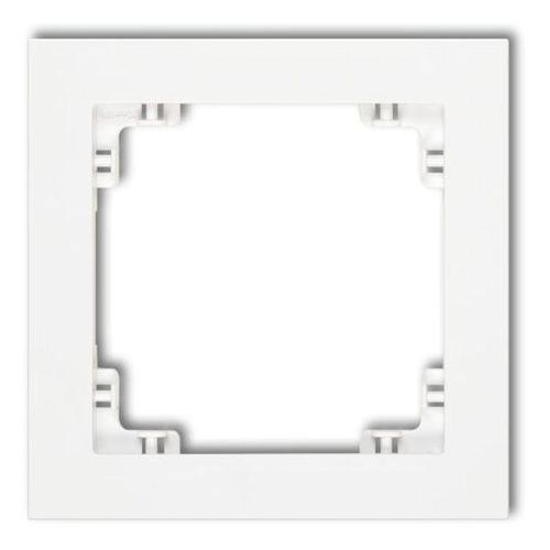 DECO Ramka uniwersalna pojedyncza z tworzywa biały mat 25DR-1
