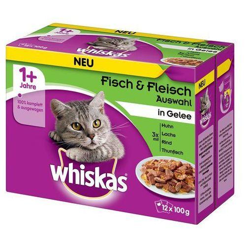 Pakiet mieszany Whiskas 1+ saszetki, 12 x 100 g - Wybór dań mięsnych w sosie (4008429010989)