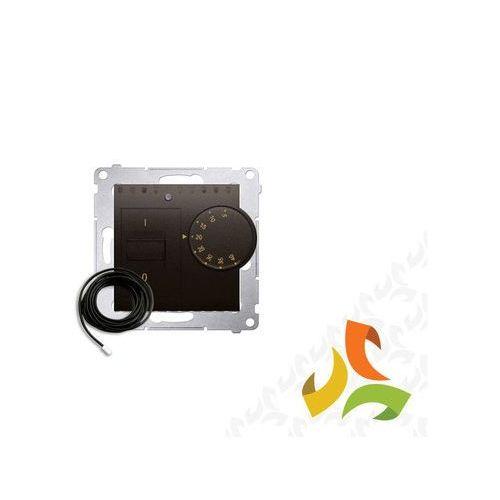 Regulator temperatury z czujnikiem zewnętrznym 16(2)a, 230v~. w komplecie czujnik zewnętrzny (sonda). montaż na wkręty, brąz mat drt10z.02/46 simon 54 premium marki Simon kontakt
