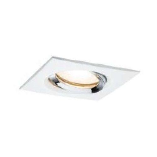 Oprawa do wbudowania LED Nova IP65 prostokątna 7 W GU10 Biała / chromowana 1-częściowy zestaw obrotowy, PAULMANN 92904