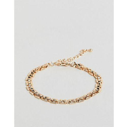 Limited edition vintage style linked chain bracelet - gold marki Asos